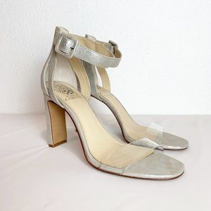 Vince Camuto Clear toe strap Silver Sandal size 9